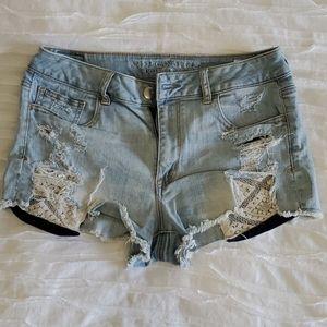AE high waisted jean shorts